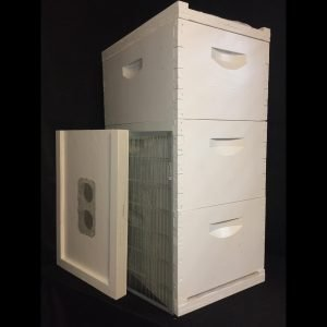 Completed beehive kit without bees