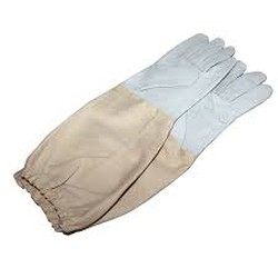 Leather gloves for beekeeping